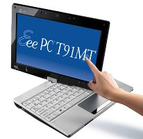 Asus Eee PC T91MT a convertible tablet netbook Features