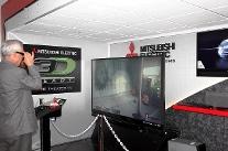 3-D TVs on display