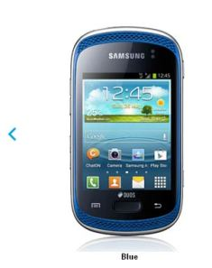 Features of Galaxy  music Duos smartphone